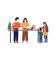cooking festive dinner flat vector image