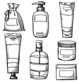 Cosmetics packaging design vector image vector image