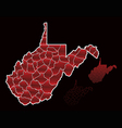 counties of west virginia vector image vector image