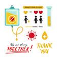 covid-19 2019-ncov virus plasma donation vector image