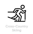 cross country skilling sport icons vector image vector image
