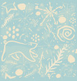 cute winter pattern on subtle background vector image vector image