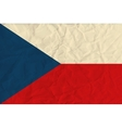 Czech Republic paper flag vector image