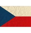 Czech Republic paper flag vector image vector image