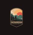 emblem patch logo shenandoah national park vector image vector image