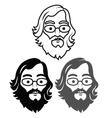 Geek Head vector image vector image