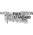 gibson les paul standard text background word vector image vector image