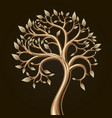 golden tree foliage vector image vector image