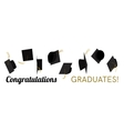 Graduation hat cap off vector image vector image