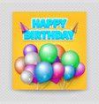 happy birthday greeting card blank paper vector image vector image