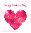 Happy Mother day Love symbol Pink origami heart on vector image vector image