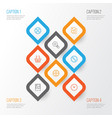 internet icons set collection of landscape photo vector image vector image