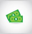 isolate money symbol icon vector image