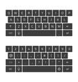 keyboard smartphone vector image vector image