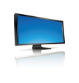 lcd tv monitor isolated vector image vector image