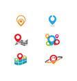 location point icon logo vector image vector image