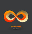 logo connecting people design company vector image vector image