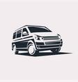 mini van symbol logo template delivery vector image vector image