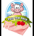 natural meat label vector image vector image