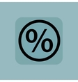 Pale blue percent sign vector image vector image