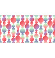 pastel neon color circles seamless pattern vector image vector image
