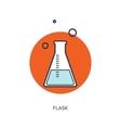Pharmacy vaccine Flat web vector image vector image