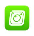photo icon green vector image