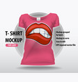 pop art comic book style with sexy lips editable vector image vector image