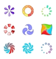 Progress loading bar icons set cartoon style vector image vector image