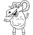 ram farm animal character coloring book vector image vector image