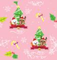 reindeer and white bear christmas seamless vector image