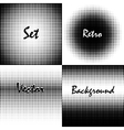 Retro background circles vector image vector image