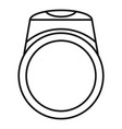 ring icon outline style vector image vector image
