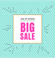 sales banner price tag square frame on polka dot vector image