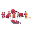 santa claus set in flat style vector image vector image