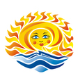 Sea and sun vector image vector image