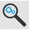 Search Gears Tool Icon vector image