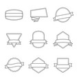 set badges outlined black and white - vol 3 vector image