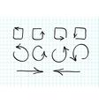 set hand-drawn arrow doodles vector image vector image