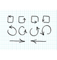 Set of hand-drawn arrow doodles vector image vector image