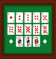 set of poker playing cards of diamond suit on vector image vector image
