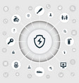set of simple secure icons vector image vector image