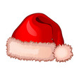 single cap santa claus with fluffy pompom vector image vector image