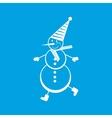 Snowman white icon vector image vector image