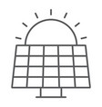 solar panel thin line icon ecology and energy vector image vector image