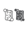 sponge line and glyph icon clean and wash vector image