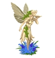 Statue fairies with wings on a white background vector image vector image
