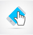 touchscreen cellphone trendy social symbol trendy vector image