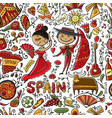 travel to spain seamless pattern for your design vector image vector image