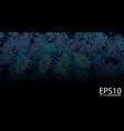 tropical blue leaf pattern background vector image vector image